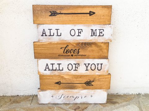cartel vintage all of me loves all of you